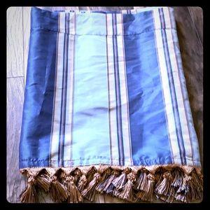 Blue valence w tassels ...